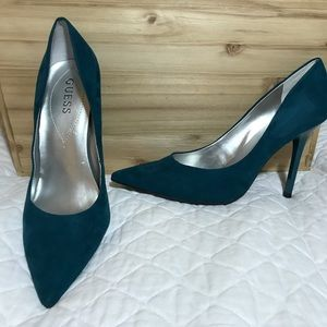Guess Teal Suede Pumps